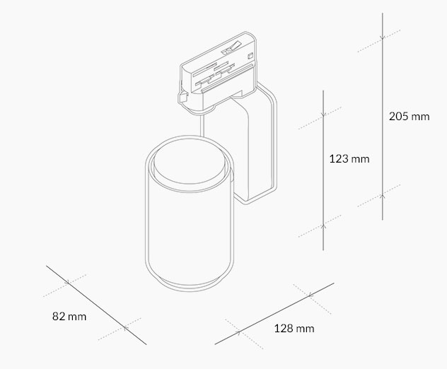 technical drawing Tracklight H