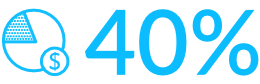 Znaczek oszczędności na oświetleniu 40% - Luxon LED