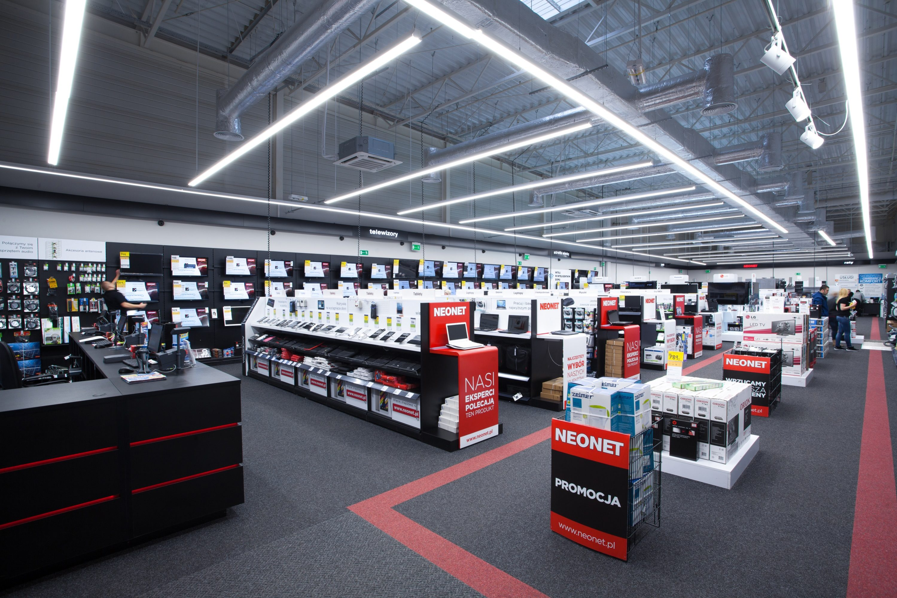 modernizacja sklepu Neonet
