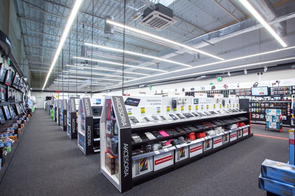 powierzchnia sprzedażowa sieci Neonet