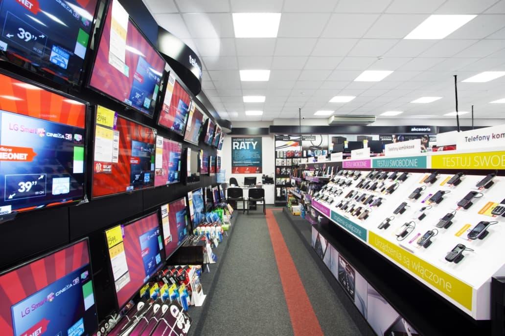 oświetlenie sklepu Neonet