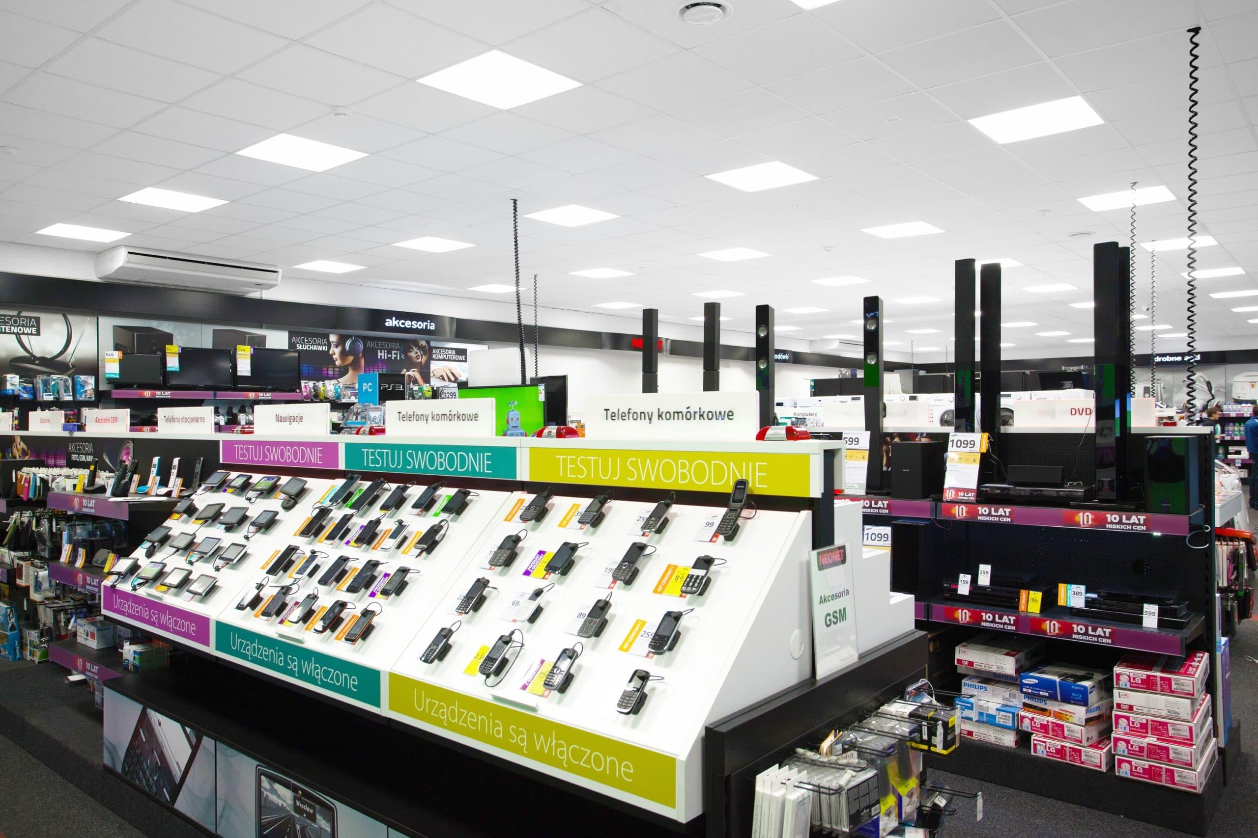 Oświetlenie podtynkowe led w sklepie Neonet - Luxon LED
