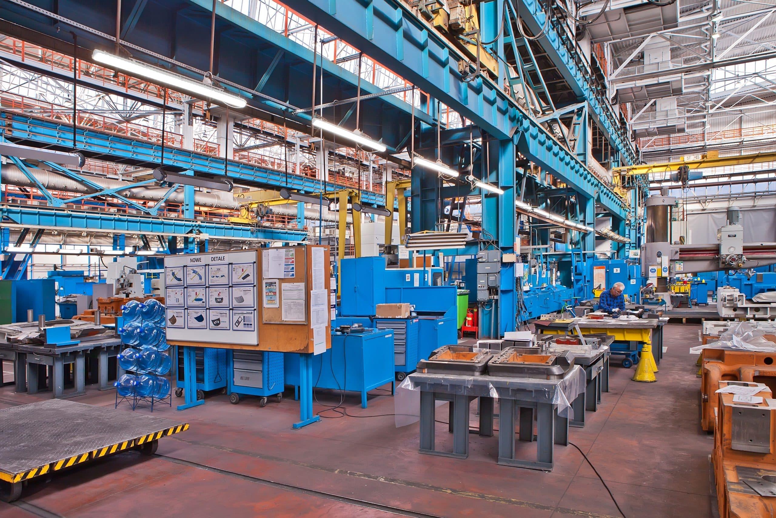 Oprawy Industrialna stanowiskach w firmie Fiat - Luxon LED