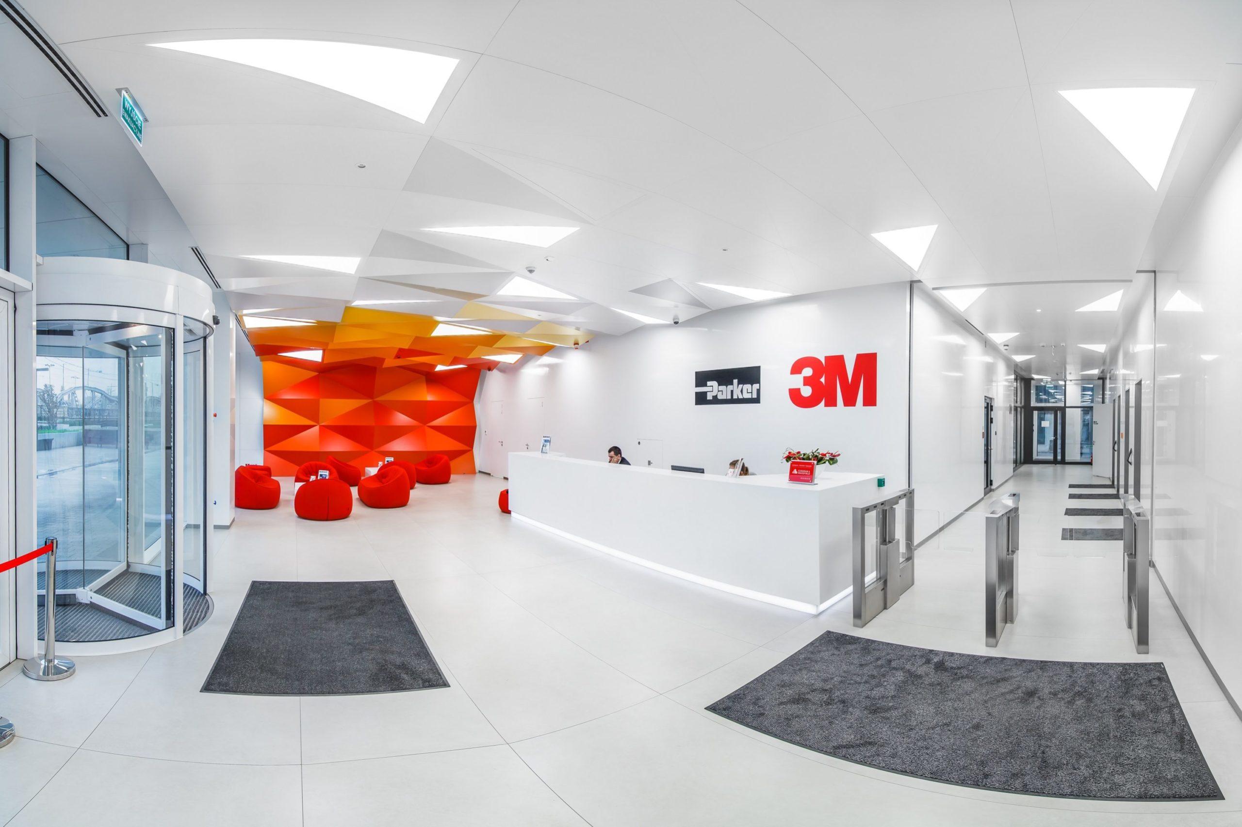 Oprawy biurowe w biurowcu 3M - Luxon LED