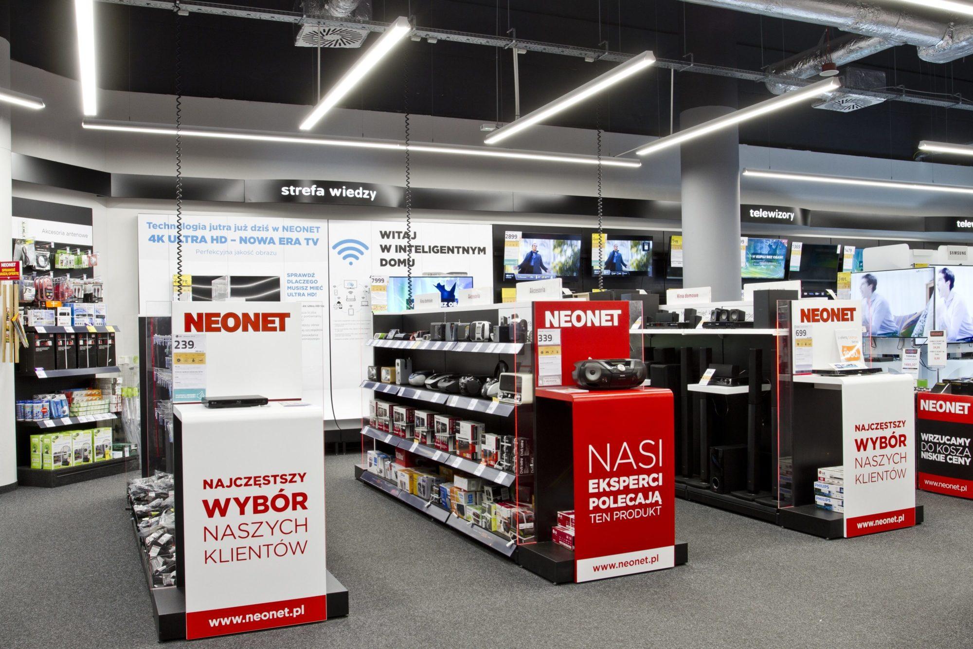 część sprzedażowa sklepu Neonet