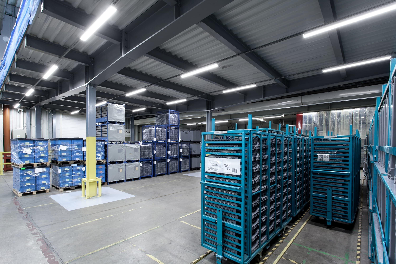 Oprawy przemysłowe Industrial w zmodernizowanej hali firmy BSH