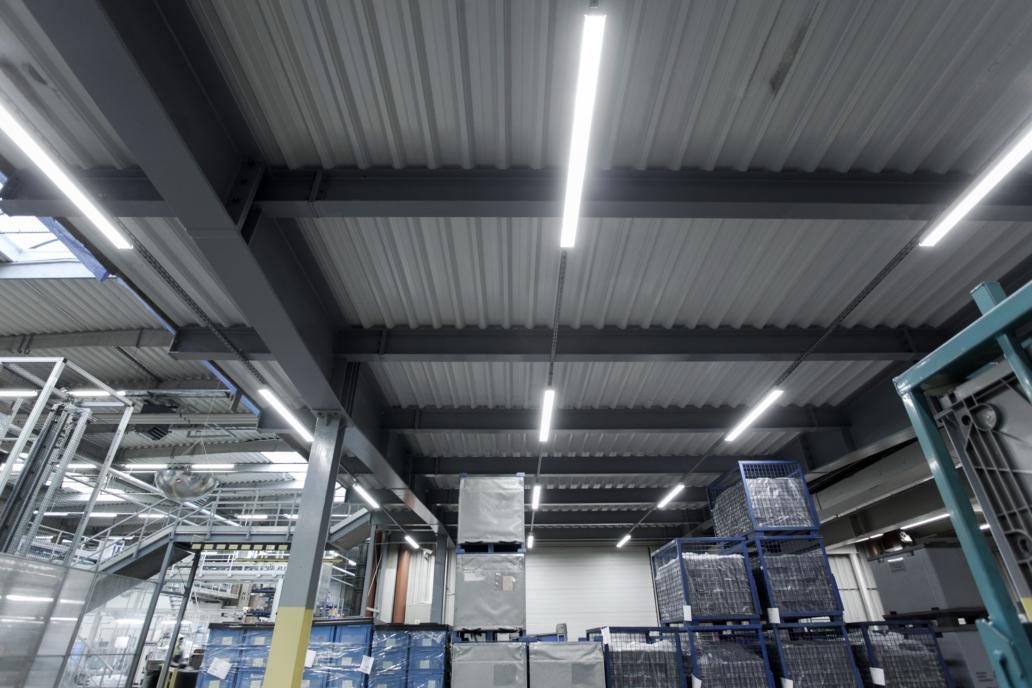 hala po modernizacji oświetlenia
