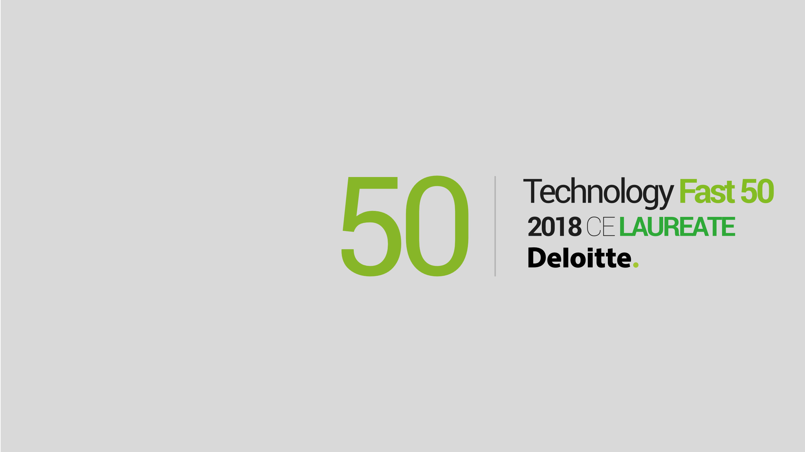 Luxon LED laureatem Daloitte Fast 50 ranking - grafika