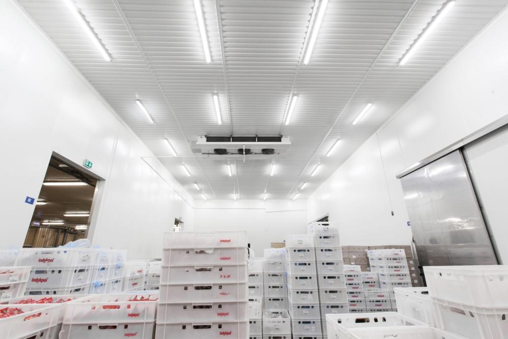 Oprawy hermetyczne Industrial LED w zmodernizawanym magazynie firmy Indykpol - Luxon