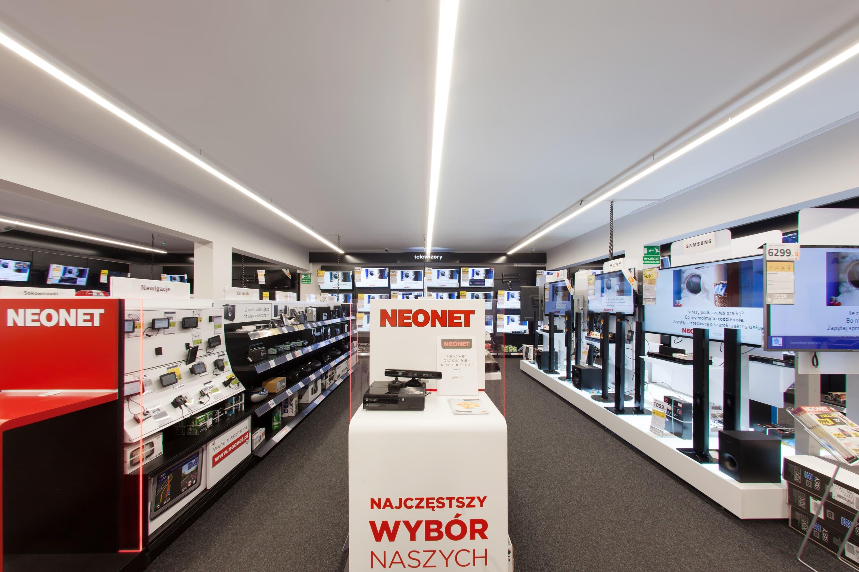 Modernizacja oświetlenia w sklepie Neonet