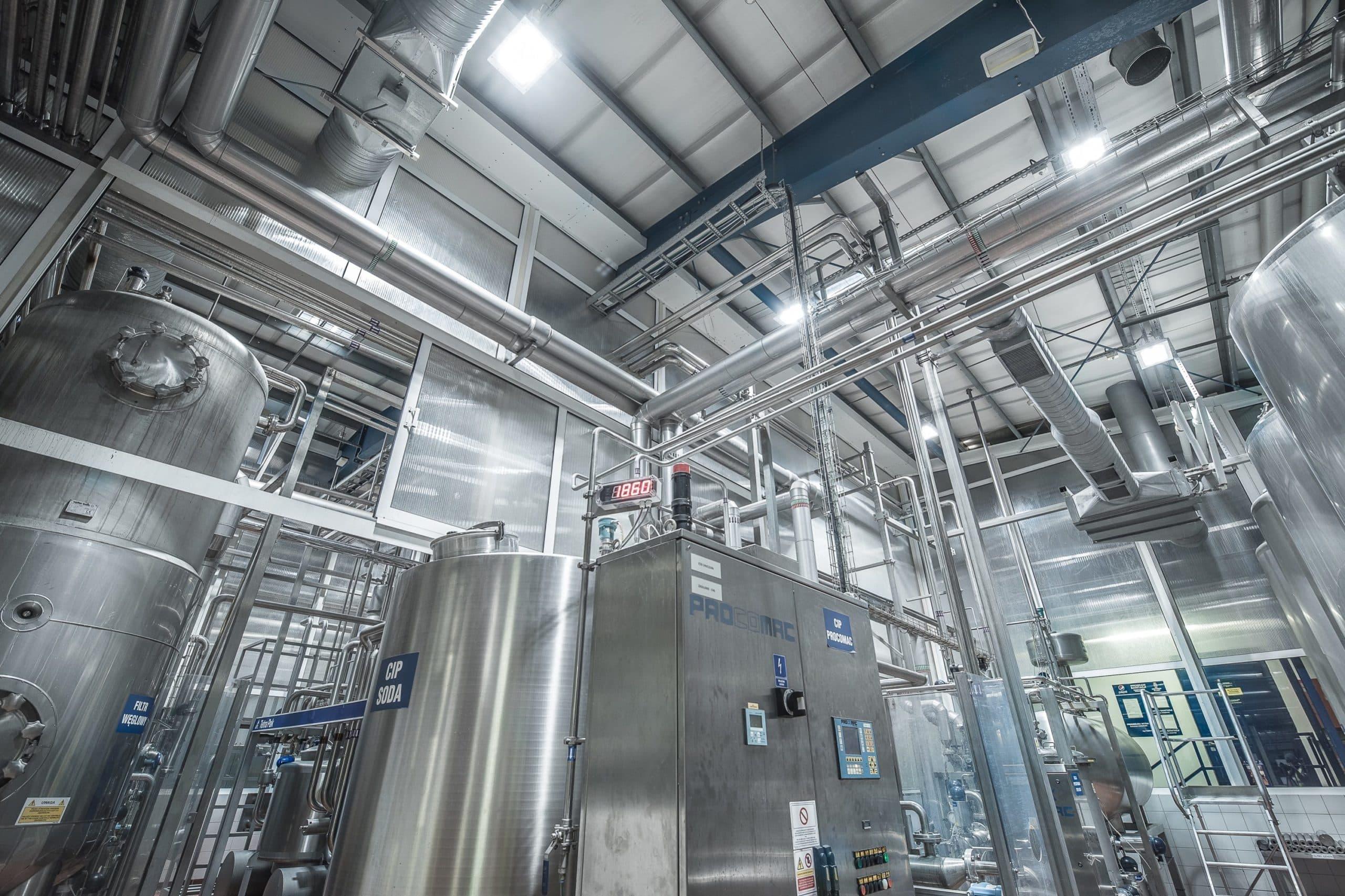 Oprawa Highbay w części przemysłowej firmy Pepsico - Luxon LED
