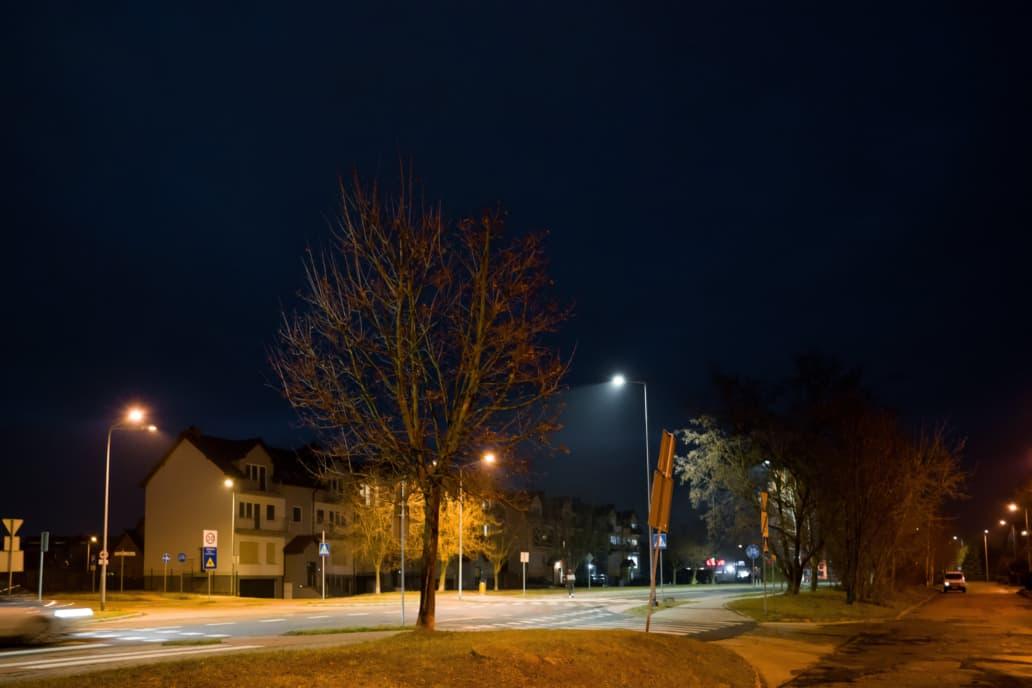 Zdjęcie opraw ulicznych Cordoba na ulicy Sudeckiej w Legnicy - Luxon LED