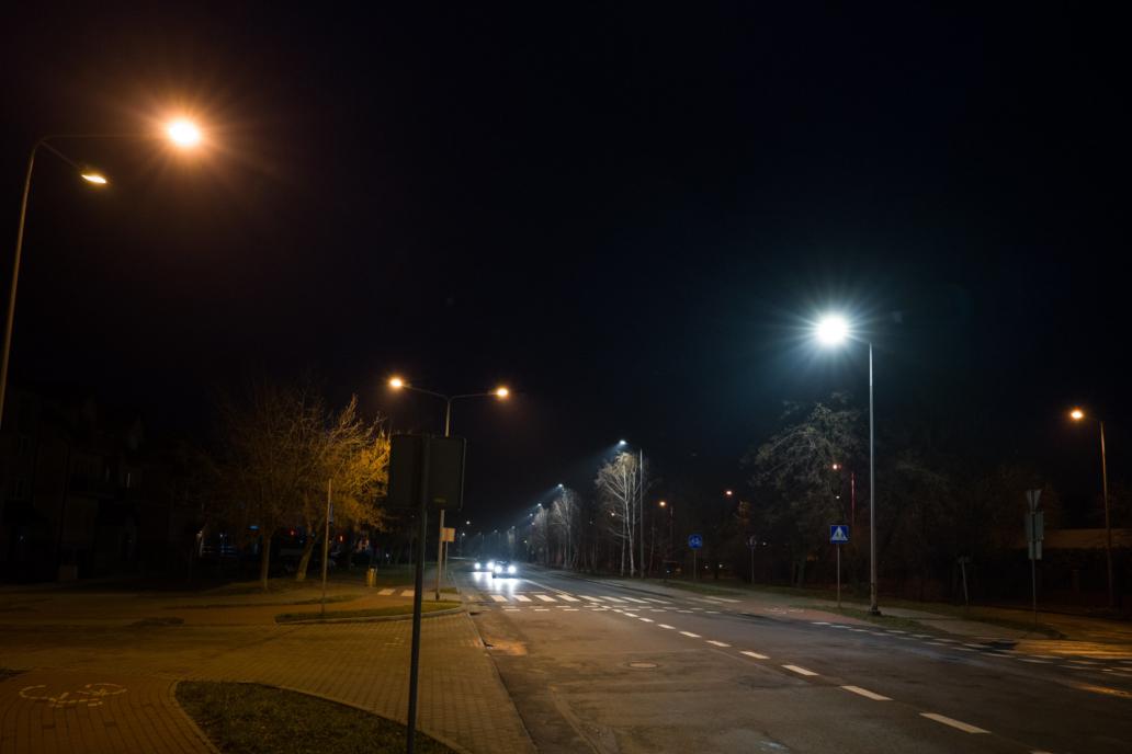 Zdjęcie opraw Cordoba - oświetlenie uliczne przy Sudeckiej w Legnicy - Luxon LED