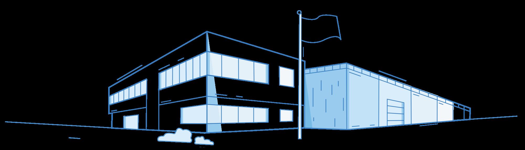 Wizualizacja - hala produkcyjna - Luxon LED