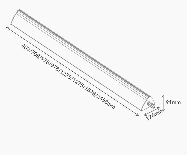 Rysunek oprawy Ultima - Luxon LED